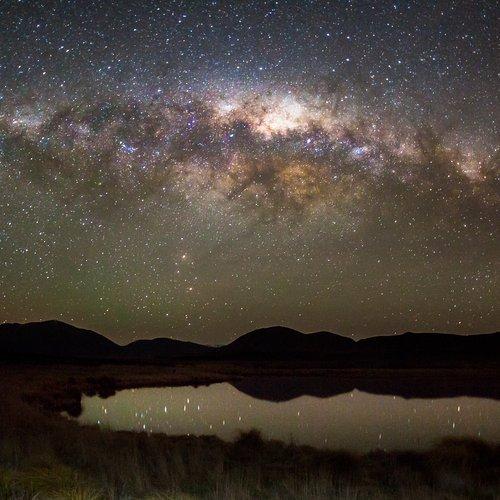 Galaxy over the Maori Lakes