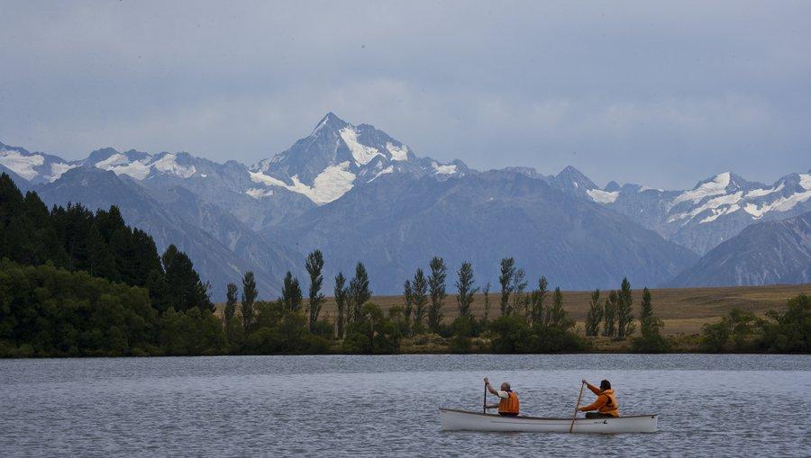 Kayaking on Lake Clearwater, Mid Canterbury.jpg